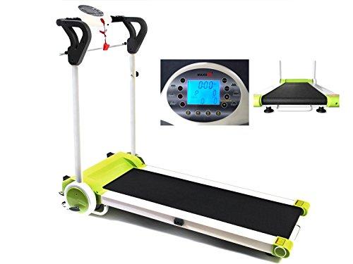 MAXOfit Laufband Greenline MF 7 Sportgerät, bis 12 km/h, Platzsparend Klappbar, mit Leisem Elektromotor, Digitalanzeige, für Zuhause