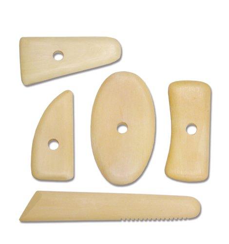 Royal & Langnickel RSET-POT8 - Costillas de modelado de madera, 5 piezas