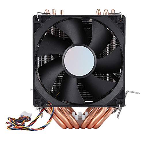 4-pins 6 Heatpipe CPU-koeler, Luchtventilator met Dubbele Toren, geen Licht, 800-2200 Revolutie Heatpipe CPU-koeler, Stille Intelligente Temperatuurgestuurde Radiator voor PC
