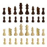 Andux Juego de 32 Piezas de ajedrez Piezas de ajedrez de Madera XQZ-03