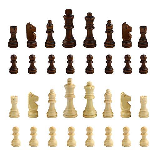 Andux Set mit 32 Schachfiguren Schachfiguren aus Holz XQZ-03