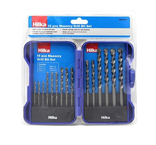 Hilka Tools 49800015 15 PCE Masonry Drill Bit Set