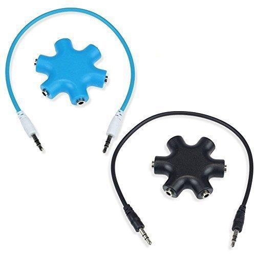 aussel Lot de 2 3.5 mm Casque Casque d'extension audio Splitter adaptateur 1 mâle vers 2 3 4 5 femelle câble