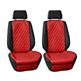 FH Group FH1018 Faux Leather Seat Protectors (Red ) Font Set with Gift - Universal Fit for Cars, Trucks & SUVs