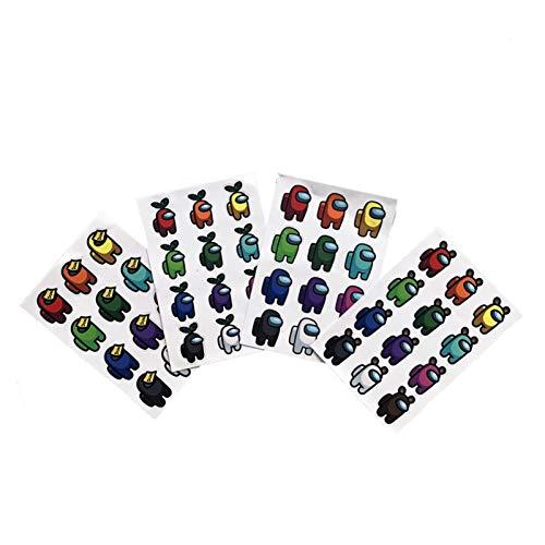 XMCHE El Nuevo Juego Entre Nosotros Pintada Etiquetas de Equipaje portátil a Prueba de Agua Folleto translúcido sin Pegamento Pegatinas Pegatinas de Juegos (Color : Random 1Pcs)