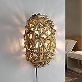 Lampe murale en bois flotté fait main pour chambre à coucher, salon