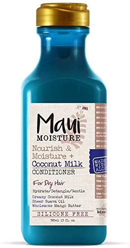 Maui Moisture Nourish & Moisture + Coconut Milk Conditioner to Hydrate and Detangle Curly Hair, Lightweight Daily Moisturizing Conditioner, Vegan, Silicone- & Paraben-Free, 13 fl oz, Mango