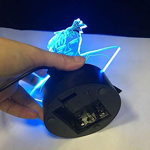 Die Raper Sänger XXX Tentacion Figur 3D Tischlampe Kinder Spielzeug Geschenk Illusion Dekoration Nachtlicht Jahseh Dwayne Ricardo Onfroy Fan Souvenir