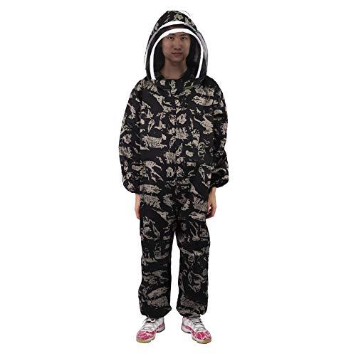 YILUFA Beekeeping Velo Smock Bee Suit De Una Pieza Apicultura Uniforme Uniforme Protección De Velo Equipo De Apicultor XXL