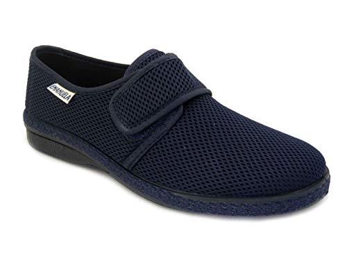 EMANUELA 5254 - Blu Pantofole Uomo in Tessuto con Strappo Lavabili in Lavatrice A 30 Gradi Blu 42