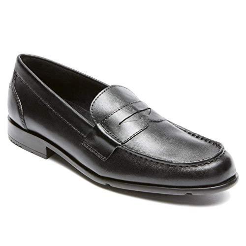 Rockport mens Classic Penny Loafer, Black/Black, 9 M US