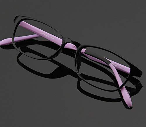 Anti-Straling Bril, Platte Spiegel Voor Kinderen Anti-Bijziendheid Computer Leesbril Met Blauwe Anti-Licht Bril Voor Kinderen 3-12 Jaar Paars