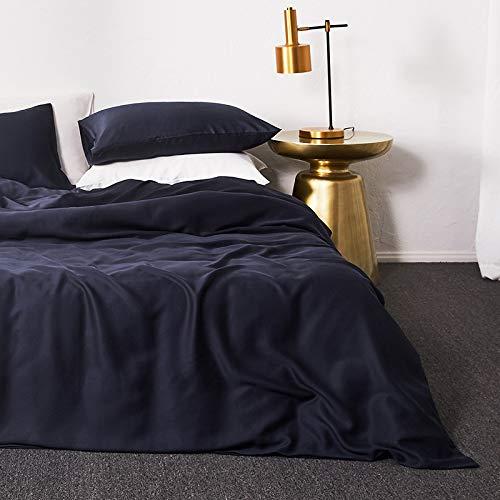 yaonuli Tencel 4-delige dekbedovertrek, tweepersoonsbed, zeestijl, blauw, 1,5 m