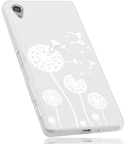 mumbi Hülle kompatibel mit Sony Xperia X Handy Hülle Handyhülle mit Motiv Pusteblume, transparent