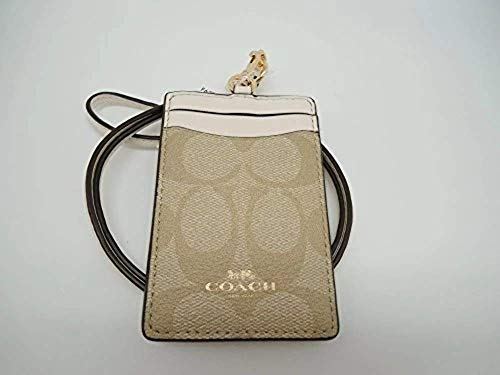 Coach Signature PVC Lanyard Light Khaki Chalk F63274