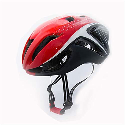 Casque Velo Adulte SFBBBOCasque de vélo Casque de vélo de sécurité Confortable réglable moulé intégralement Casque de vélo VTT Robuste Rouge Noir