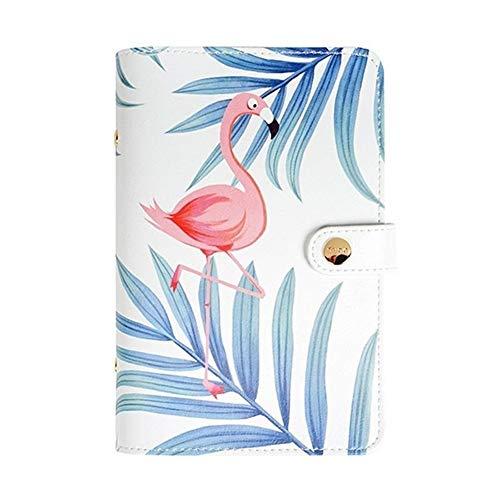 Cuadernos de diario en blanco de papel rayado plan A5 A6 Papelería creativa Carpeta de rosas y flamencos Libro de mano de dibujos animados Diario de viaje Cuaderno Papelería Cuaderno Suministros for e