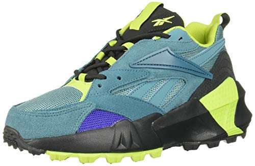 Reebok Women's AZTREK Double Mix Trail Sneaker, Mineral Mist/True Grey/neon Lime, 8.5 M US