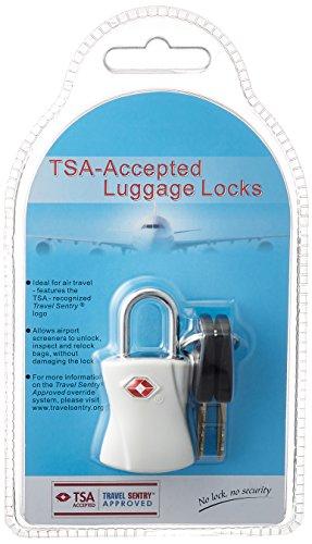 [シフレ] 南京錠 TSAロック 鍵 スーツケース シリンダー錠 siffler 5.5 cm ホワイト