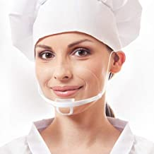 Reusable Safety Open Face Guard Anti-Fog Transparent Sanitary Open Face Guard for (Fast food) Restaurants, Food Truck,Hotels, Mall, beauty salons, barber shops and so on (10, white)