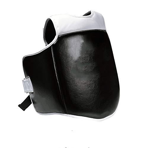 Dfghbn Boxen Brustschutz Boxen Brustschutz Jungen und Mädchen Ausbildung Sanda Taekwondo Kampfrüstung Brustschützer für Kampfsport (Farbe : Black, Size : M)