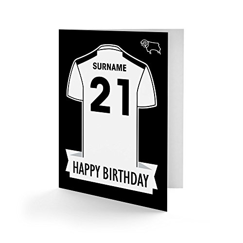 Official Personalised Derby County Shirt Birthday Card