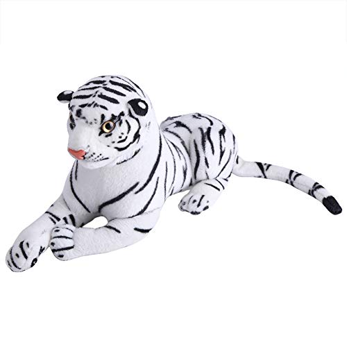Almohada de tigre artificial - Animal de peluche de tigre artificial Realista Big Cat White Soft Stuffed Toy Pillow