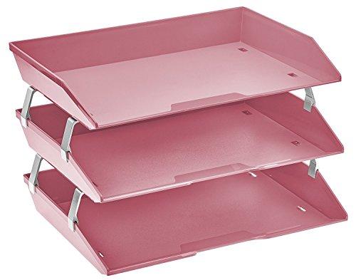 Acrimet Facility Briefablage dreifach Querformat Design (A4 format) (Rosa)