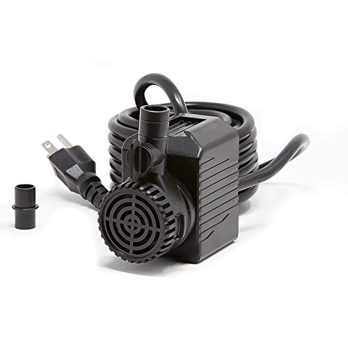 Beckett Corporation 400 GPH Submersible Pond Pump - Water Pump for Indoor/Outdoor Ponds, Fountains, Fish Tanks, Aquariums, and Waterfalls - 8.3' Max Fountain Height, Black