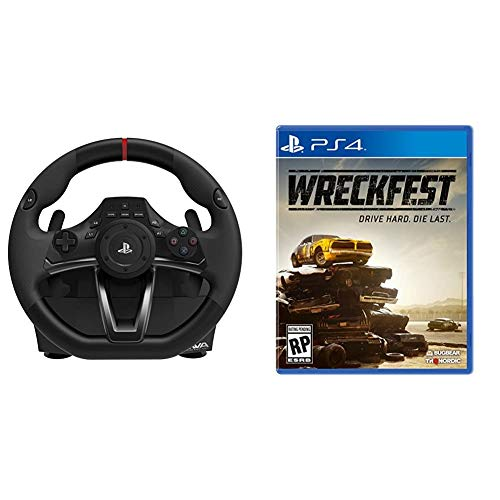 HORI Racing Wheel Apex for PlayStation 4/3, and PC & Wreckfest - PlayStation 4