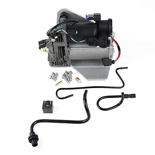 LR015303 Air Suspension Compressor Pump & Relay for 2006-2013 Range Rover Sport / 2005-2009 LR3 / 2010-2014 LR4 (AMK Style) Part#LR023964 LR044360 LR045251