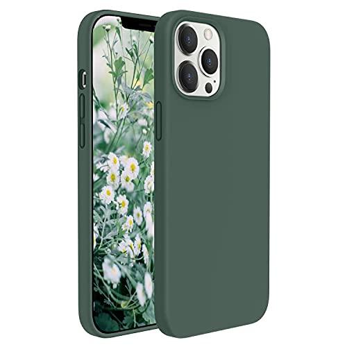 GOODVISH Hülle Kompatibel mit Apple iPhone 12 & iPhone 12 Pro (2020) 6,1 Zoll, Ultra Dünn Voller Schutz Flüssig Silikon Handyhülle | Kameraschutz & Displayschutz |, Kratzfest, Grün