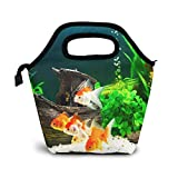 Bolsa Térmica Comida Bolsas De Almuerzo para Mujeres Hombres Niñas Niños Bolsa Isotérmica De Almuerzo Acuario de agua dulce Goldfish