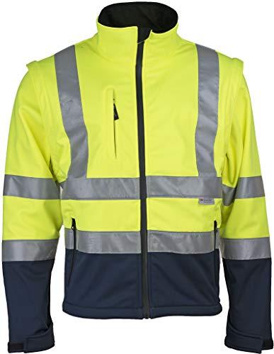 Prevent Warnschutz-Softshell-Jacken 8060GB, gelb/blau, Gr. M