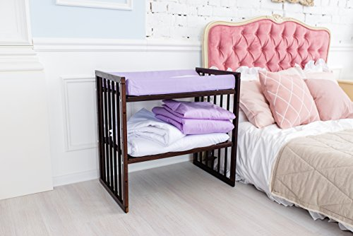 ComfortBaby ® Wickelauflage Wickelmulde 50 x 70 cm passend zum SmartGrow 7in1 Babybett (violett)