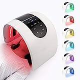 LIARTY 7 Farben Lichtmaske LED Photonentherapie Gerät Tragbare Photonen PDT Therapiemaschine Lichttherapie Gesichtsmaske für Anti-falten Akne Mitesser Entfernung, Fleck Entferner(EU Plug)