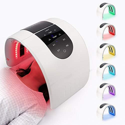 Máquina de fototerapia LED de 7 colores mejorada, PDT Máscara de luz LED de 7 colores portátil para acné, enrojecimiento, arrugas, antienvejecimiento, rejuvenecimiento de la piel
