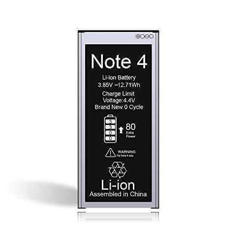 Vancely Akku für Samsung Galaxy Note 4 3300mAh, Höhere Kapazität Lithium-Ionen-Akku Ersatz für Samsung Galaxy SM-N910F, SM-N910U, SM-N910C, SM-N910H, SM-N910A, 24 Monate Gewährleistung