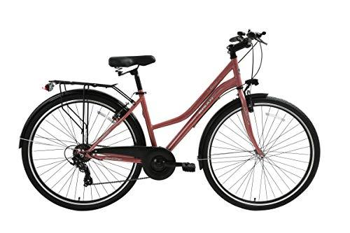 """T&Y Trade 28"""" 28 Zoll Damen City Fahrrad CITYFAHRRAD CITYBIKE DAMENFAHRRAD DAMENRAD Shimano 7 Gang Bike Rad Smile PINK"""