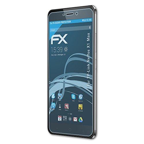 atFolix Schutzfolie kompatibel mit TP-Link Neffos X1 Max Folie, ultraklare FX Bildschirmschutzfolie (3X)
