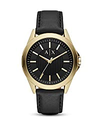 Case Thickness: 12mm; Case Size: 44mm Band Width: 22mm; Inner Circumference: 200+/- 5mm Band Material: Leather Water Resistance: 10 ATM Packed in Armani Exchange Gift Box