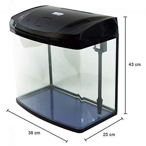 JBA 35L Medium Nano Starter Aquarium Fish Tank Tropical/Coldwater with Integrated LED Light - Free...