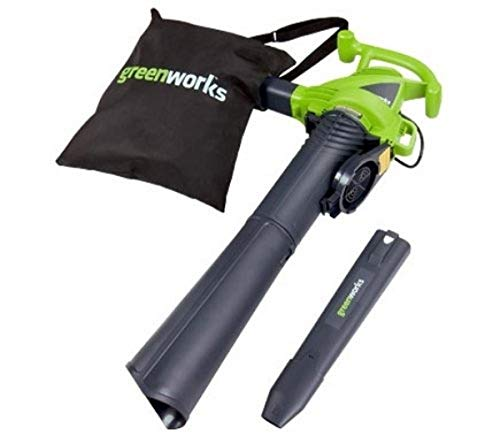 Greenworks 12 Amp 2 Speed 230 MPH Electric Leaf Blower/Vacuum, 24022