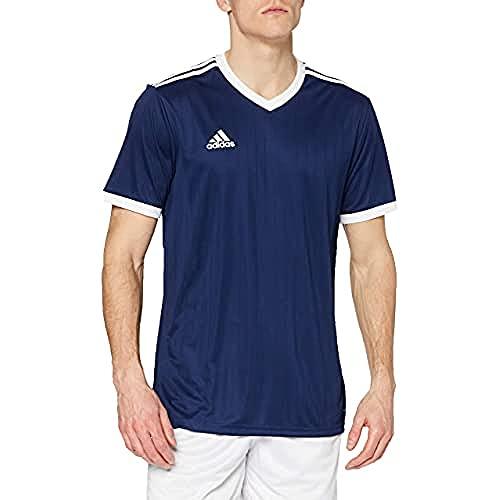 adidas TABELA 18 JSY T-Shirt, Hombre, Dark Blue/White, L