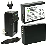 Wasabi Power LP-E10 Battery for Canon EOS Rebel T7, T6, T5, T3, T100 (2-Pack and Charger, 1600mAh)