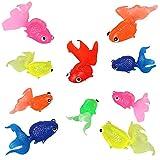 SUNSK Peces de plástico Figuras de Peces de Colores Artificiales Animales Marinos de Plástico Artificial Flotante Peces Decoración para Acuario 10 Piezas (Color de Aleatorios)