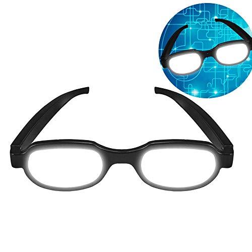 TTXS LED Anime Parodie leuchtende Brille, lustige Brille Adult Streich Brille Requisiten für leuchtende Brille Anime Cosplay Party Prop