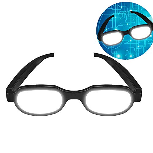 TTXS LED Anime Parodie leuchtende Brille, lustige Brille Adult Streich Brille Requisiten für leuchtende Brille Anime Cosplay Party Prop
