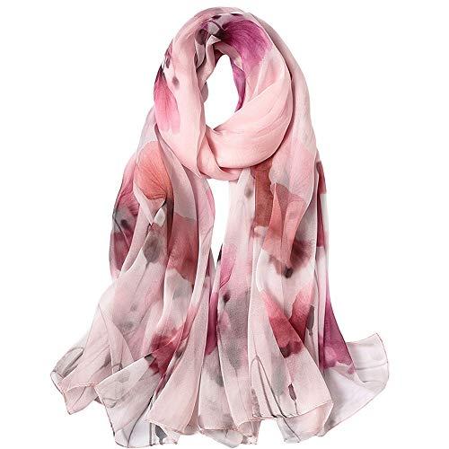 Zjcpow-AC Pañuelos de seda para mujer para cuello y cabeza bufanda para mujer bufanda de seda (color: 6, tamaño: 175 cm x 110 cm)
