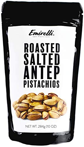 Emirelli Turkish Antep Pistachios, In Shell Roasted and Salted Intense Nuts, Non GMO Natural Vegan Snacks, Remains Fresh with Resealable Bag (Pack of 1)